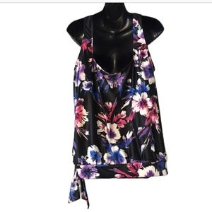 Swimsuits For All Swim - Swim Suits For All Floral Tie Blouson Tankini Top